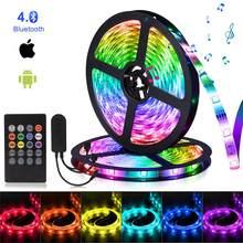 Bluetooth Led Strip Light RGB 5050 12V 10M Flexible Ribbon Adjust brightness led lights Tape Diode Color For Room decoration