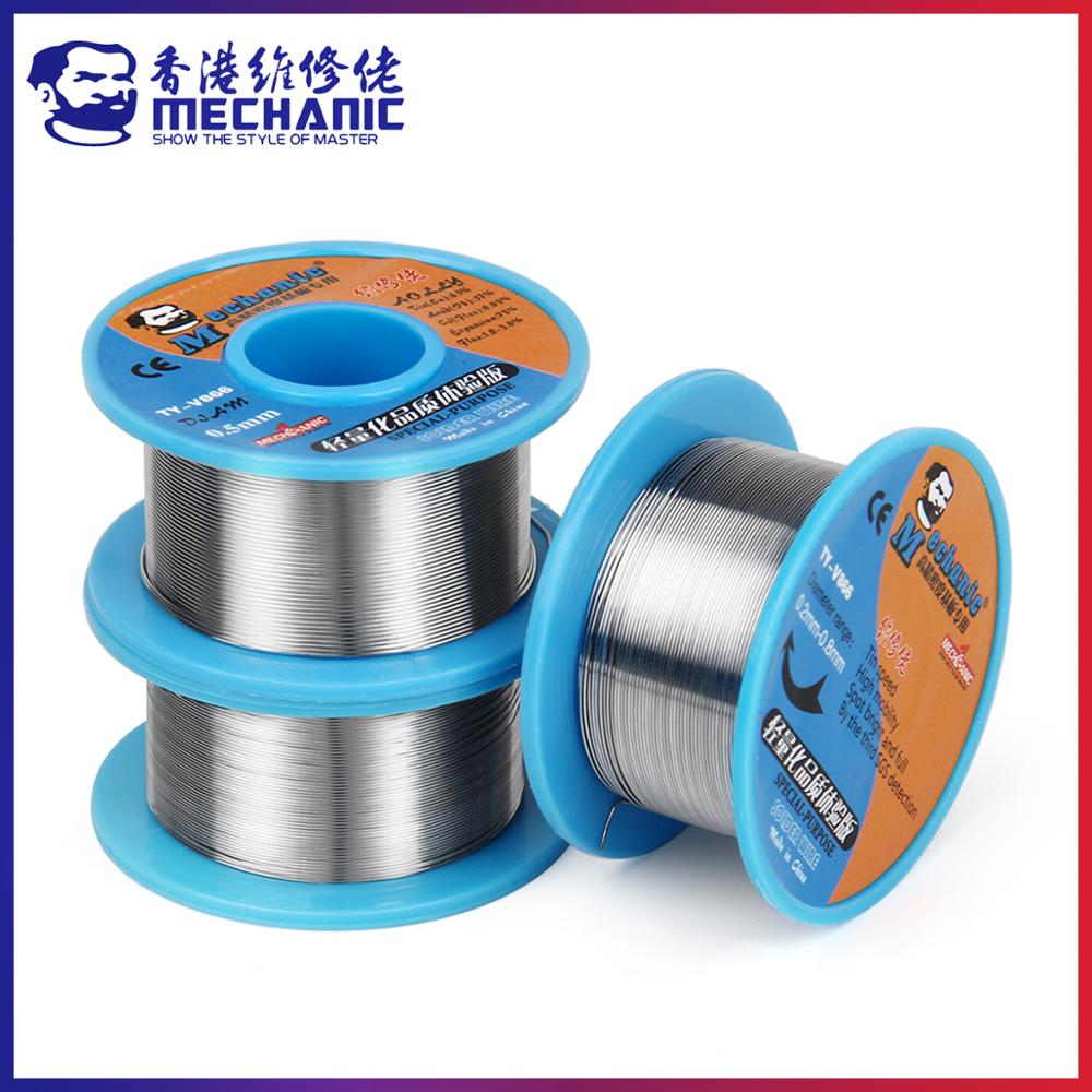 MECHANIC 40g 0.2/0.3/0.4/0.5/0.6/0.8mm 63/37 Rosin Core Tin-Lead 183℃ Melting Solder Wire Welding Flux 1.0-3.0% Iron Cable Reel