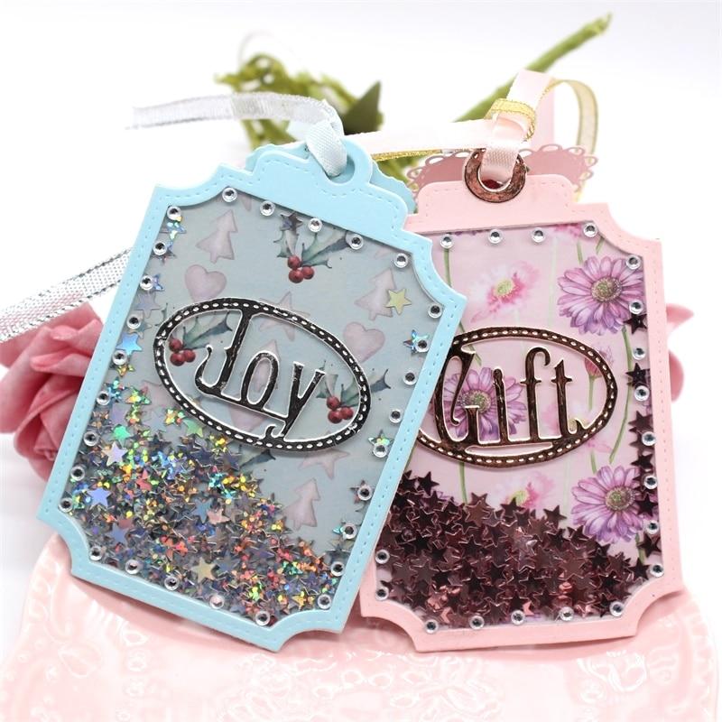 KLJUYP Christmas Gift Tag Metal Cutting Dies Scrapbook Paper Craft Decoration Dies Scrapbooking 08178