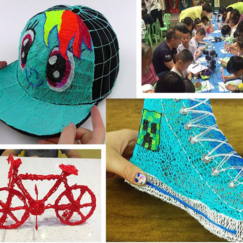lowest price Aveiro 3D Pen With 50 100 200 Meters 1 75MM ABS Filament Threads Plastic 3 d Printer Materials Refil For Kid Drawing Toys