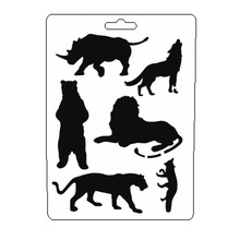 Lion Animal Stencil Reusable Scrapbooking Stamping Embossing Paper Card Drawing Template Decor Crafts Bullet Journal Stencil butterfly reusable stencil for scrapbooking stamping embossing paper card drawing template stencil crafts bullet journal stencil