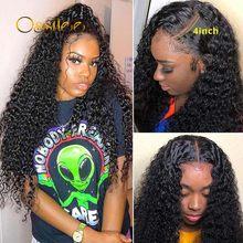 Ossilee – perruque de cheveux naturels brésilien, avec bonnet en dentelle HD 13x4, 4x4 et 6x6