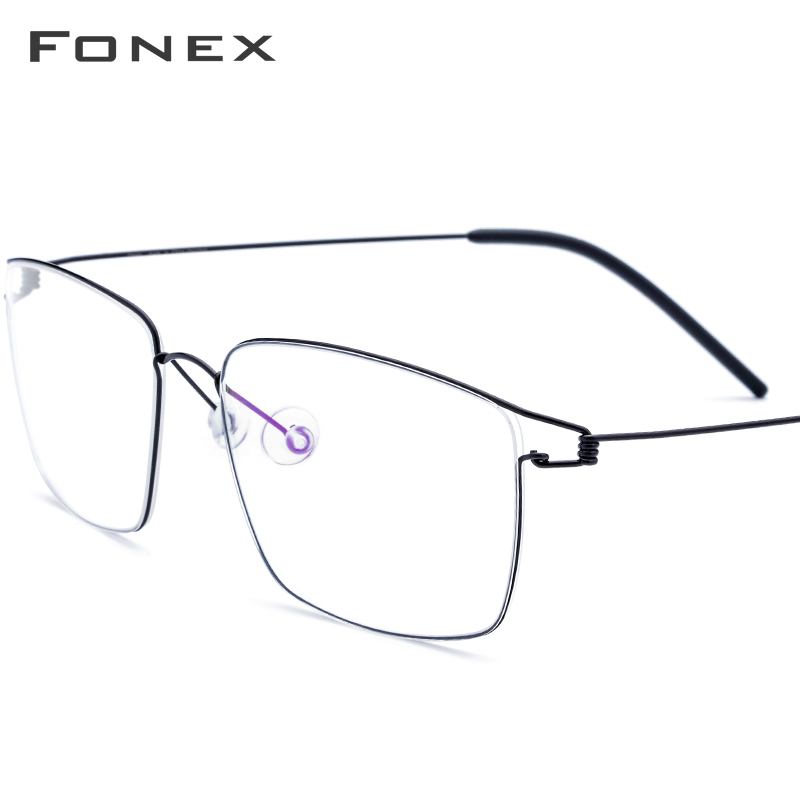 FONEX Titanium Alloy Optical Prescription Glasses 2019 New Women Myopia Eyeglasses Frame Men Ultralight Screwless Eyewear 98624