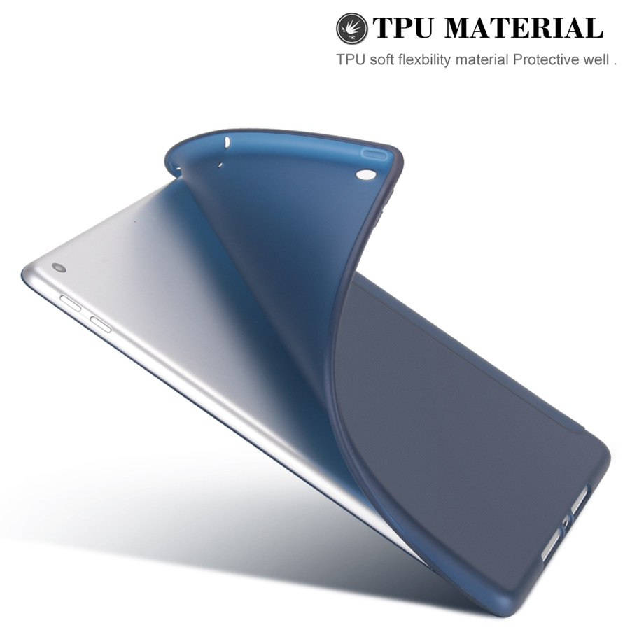 Case Smart-Stand-Cover 7-7th/A2200/A2198/A2232 for Soft-Silicon Apple iPad