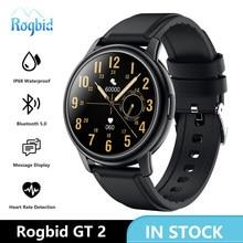 Rogbid GT 2 Smart Uhren Männer 2020 Neue Metall Rahmen Jungen Mädchen Sport Smartwatch Fitness Tracker Wasserdichte Uhr Für iOS android