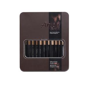 Image 5 - Juego de pinceles de nailon para pintura artística, pinceles para pintura al óleo, Gouache acrílico, muchos tipos, 12 Uds.