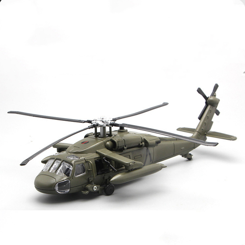 1/72 Scale 29cm Black Hawk Helicopter Millitary Model Army Fighter Aircraft Airplane Models For Collectible Display Gift