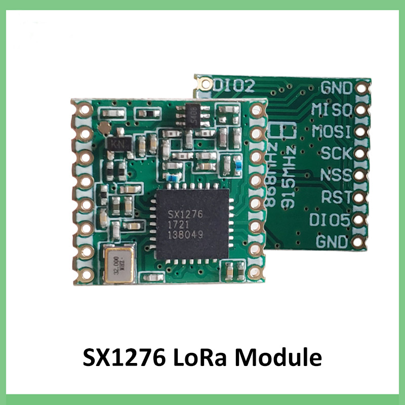2pcs 868MHz super low power RF LoRa module SX1276 chip Long-Distance communication Receiver and Transmitter SPI IOT+2pcs antenna