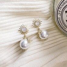 fashion net red pearl earrings 2019 new fashion temperament personality versatile Earrings South Korean Earrings female