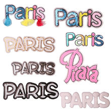 1 Pcs Pairs Sequin icon Iron on Patches for Clothing DIY Stripes Clothes Patchwork Stickers