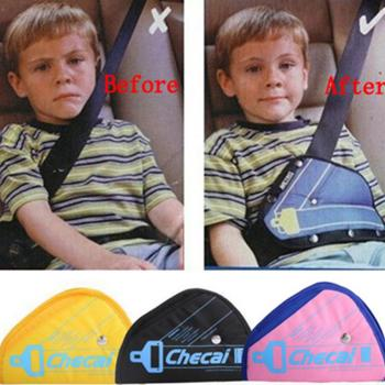 цена на Car Seat Safety Belt Cover Sturdy Adjustable Triangle Safety Seat Belt Pad Clips Baby Child Protection Car-Styling Car Goods