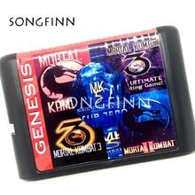 Карта памяти MD для Sega Mega Drive, 16 бит, для SEGA Genesis Megadrive Mortal Kombat, Fighting 5 в 1