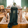 WED DECOR cotton gauze table runners and tablecloths lovely green chairs runners reusable muslin party table runner 62 x400cm