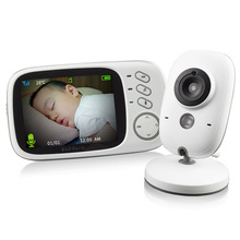 VB603 2.4G Video Baby Monitor Security Mini Camera 3.2 Inch Screen 2 Ways Audio Talk And Night Vision Temperature Monitoring