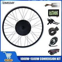 Когда-нибудь преобразователя для электрического велосипеда с сертификатом ce комплект 48V 1000W/1500W BLDC мотор для центрального движения 20/24/26/27.5/28...