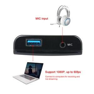 Image 5 - Ezcap 266 1080P HD Video Game Hộp Chụp Cho Video Trực Tiếp Hỗ Trợ 1080P Video Đầu Vào Và Đầu Ra Mic đầu Vào Đen