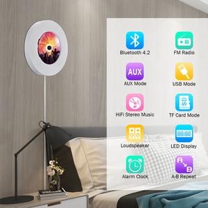 Image 2 - Qosea taşınabilir duvara monte Bluetooth CD çalar USB sürücüsü LED ekran HiFi hoparlör ses uzaktan kumanda ile FM radyo dahili