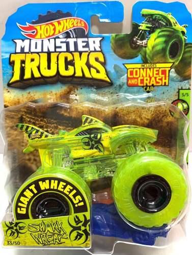 1: 64 оригинальные горячие колеса гигантские колеса Crazy Barbarism Монстр металлическая модель грузовика игрушки Hotwheels большая ножная машина детский подарок на день рождения - Цвет: 33 SHARK WREAK