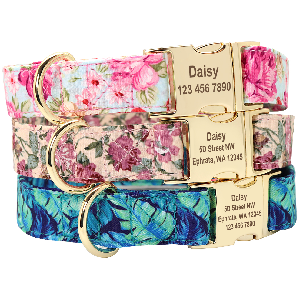Collars, Harnesses & Leashes Dogs Nylon Dog Collar Personalized  My Pet World Store
