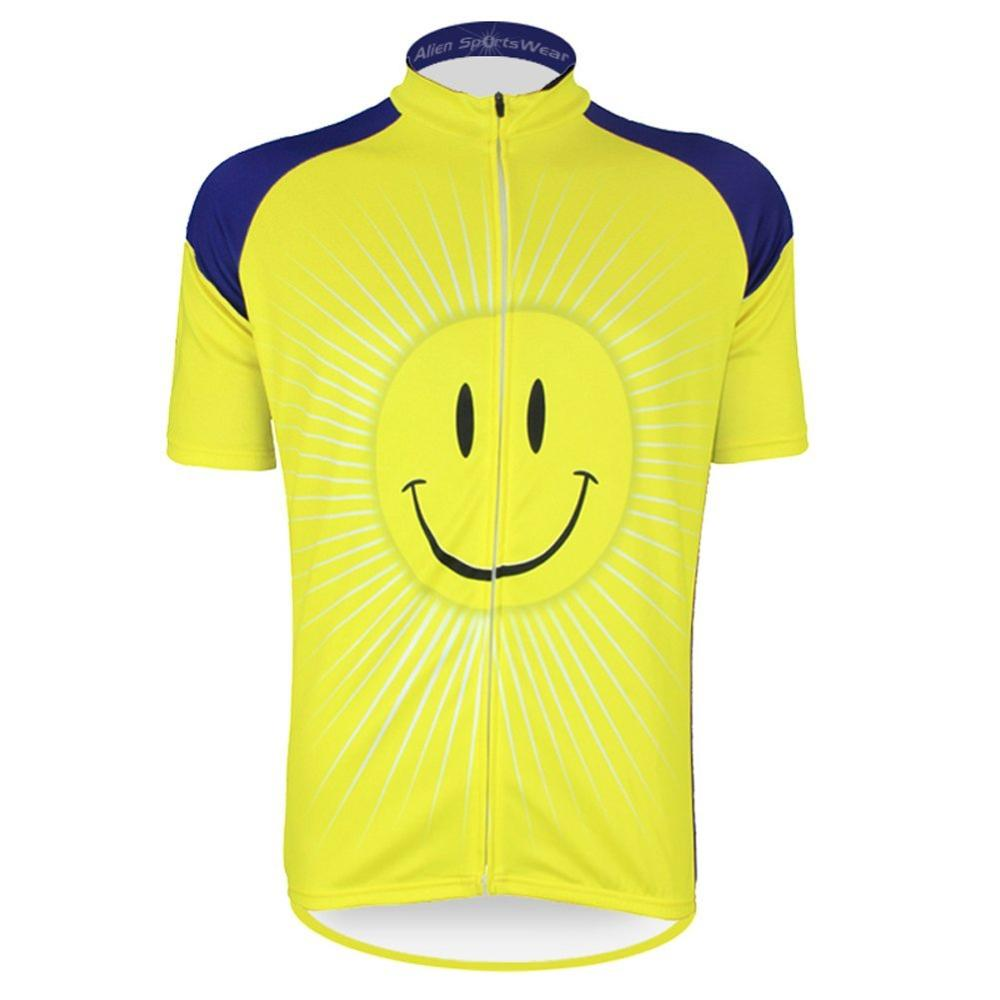2020 MTB short sleeved cycling jersey maillot ropa ciclismo hombre clothing Parent child couple yellow smile shirts 4 colors|Cycling Sets| |  -