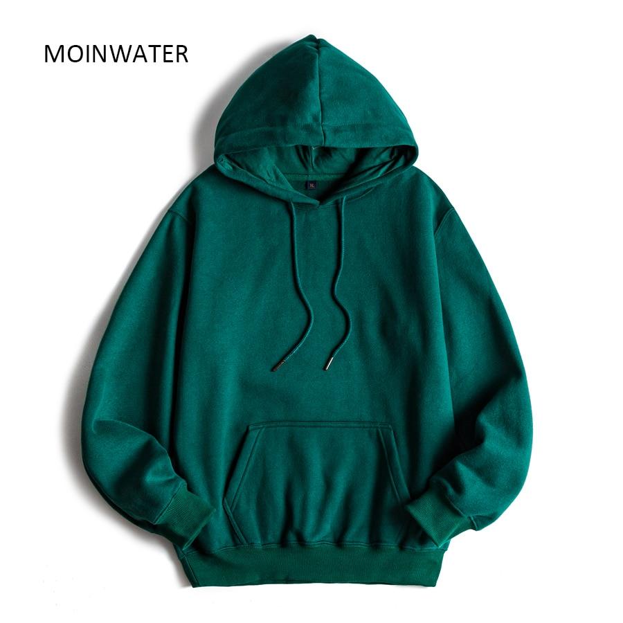 MOINWATER Brand New Women Fleece Hoodies Lady Streetwear Sweatshirt Female White Black Winter Warm Hoodie Outerwear MH2001 1
