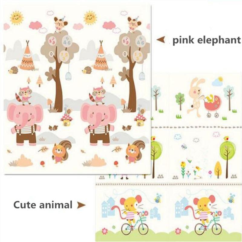 200x180CM bébé jouer tapis Portable pliable enfants escalade tapis XPE mousse environnement insipide jeu couverture comme enfants jouets cadeau
