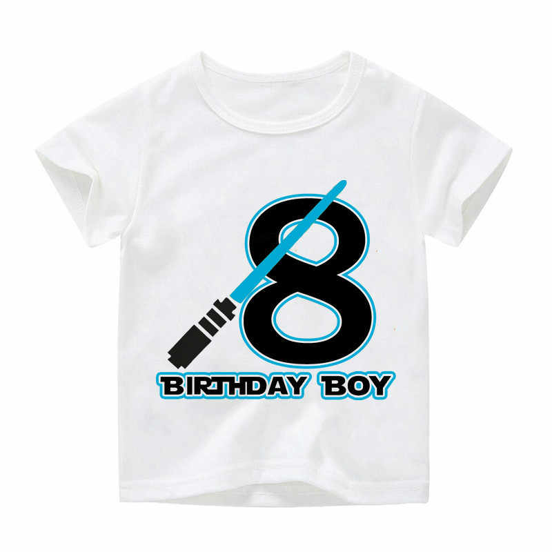 2-12 سنة عيد ميلاد سعيد عدد تصميم الأطفال مضحك القمصان الفتيان الفتيات حرب النجوم بلايز تيز الاطفال ملابس كاجوال الطفل BAL138