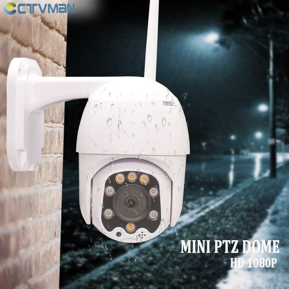 CTVMAN 1080P wifi PTZ ip-камера наружная беспроводная скоростная купольная камера видеонаблюдения ONVIF 2MP IR домашняя камера видеонаблюдения P2P