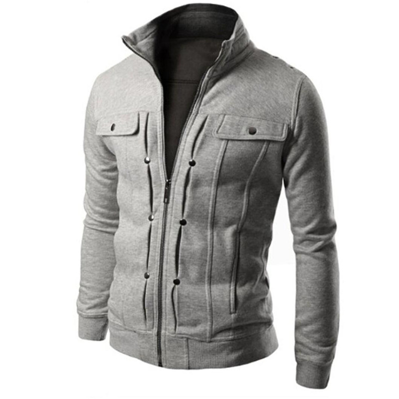 Jacket Mens Road  Fashion Mens Slim Designed Lapel Cardigan Coat Jacket Sweatshirt Tops Blouse Outerwear Plus With Full Collar