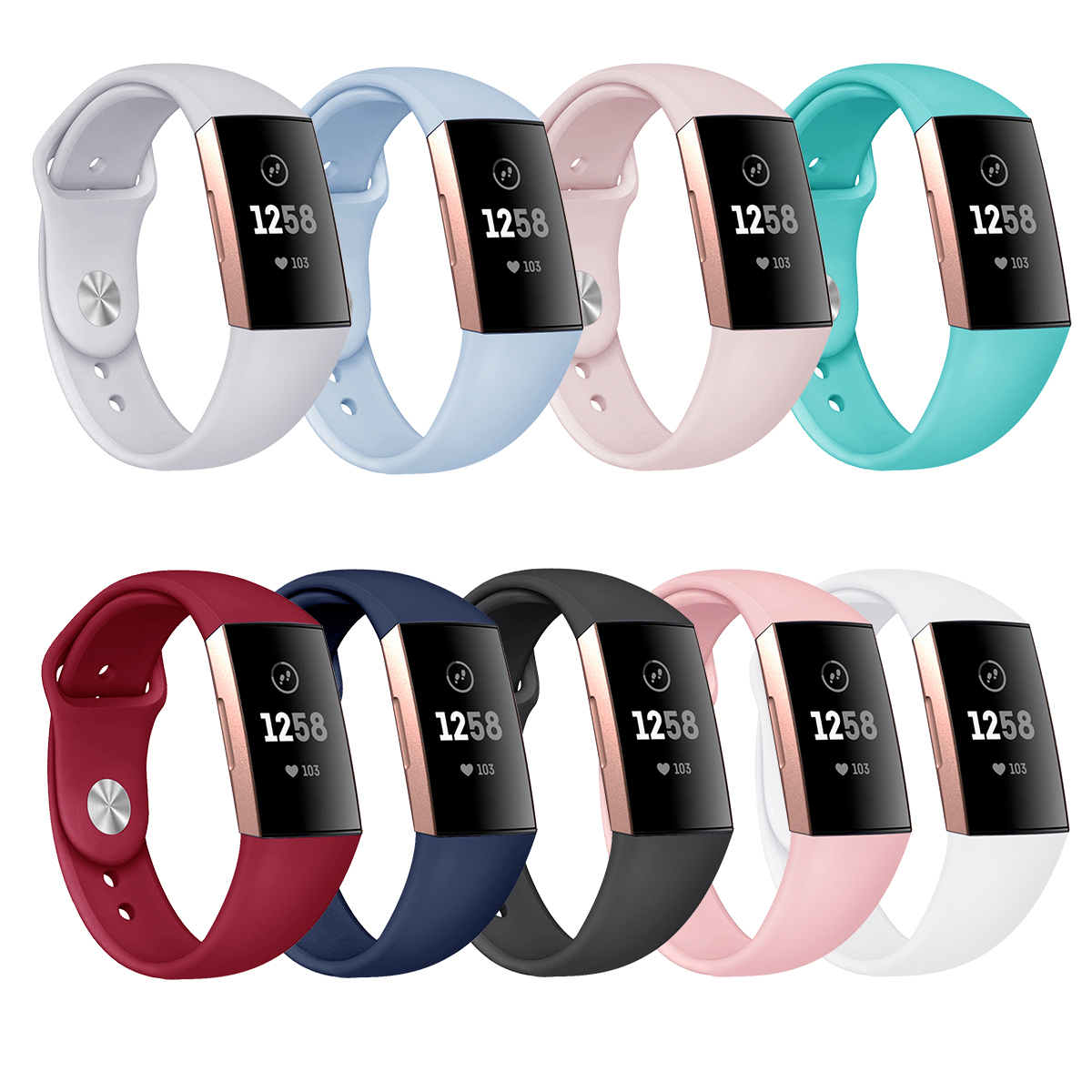 Band For Fitbit Charge 3 Silicone Watchband Watch Replacement Strap For Fitbit Charge 3 Wrist Band Accosseries Buckle Strap