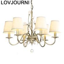 Lampara Decor Lustre E Pendente Para Sala De Jantar Suspension Luminaire Deco Maison Crystal Light Luminaria Loft Hanglamp