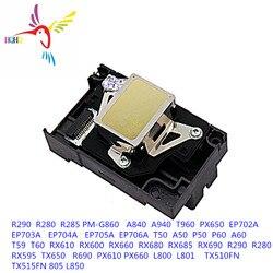 100% nowy F180000 głowica drukująca do Epson R280 R285 R290 R295 R330 RX610 RX690 PX660 PX610 P50 P60 T50 T60 T59 TX650 L800 L801