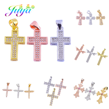 Juya DIY Christian Cross Charms Pendant Supplies For Women Men Handmade Religious Jesus Jewelry Making