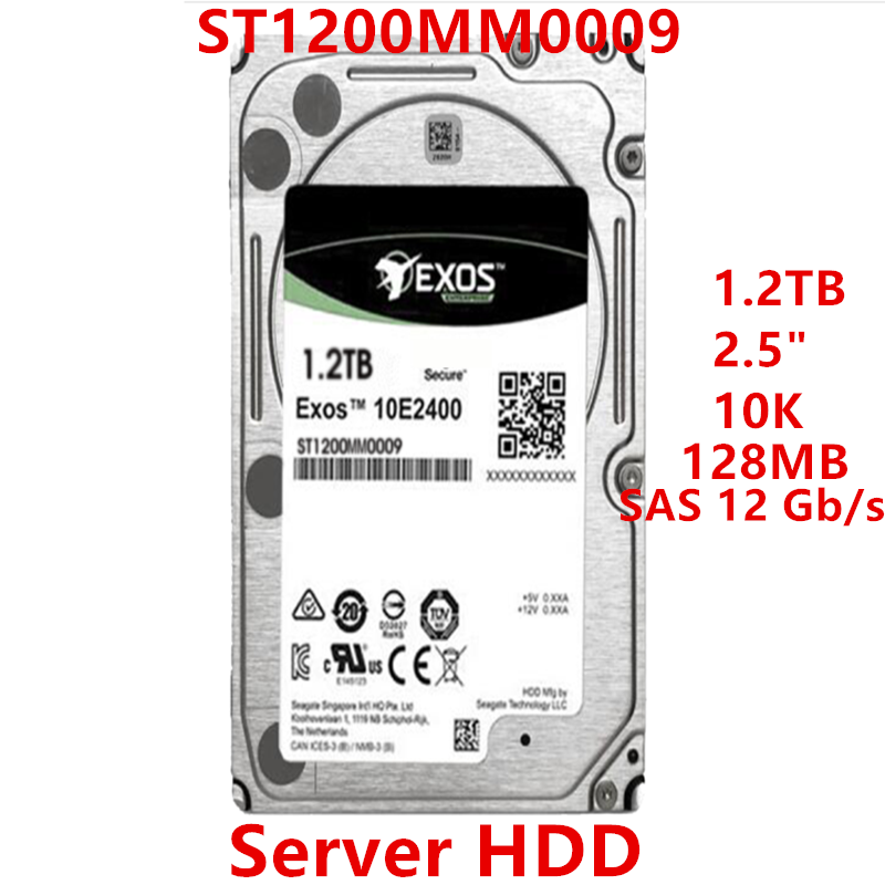 """New HDD For Seagate Brand 1.2TB 2.5"""" 10K SAS 12 Gb/s 128MB 10000RPM For Internal Hard Disk For Server HDD For ST1200MM0009 1"""