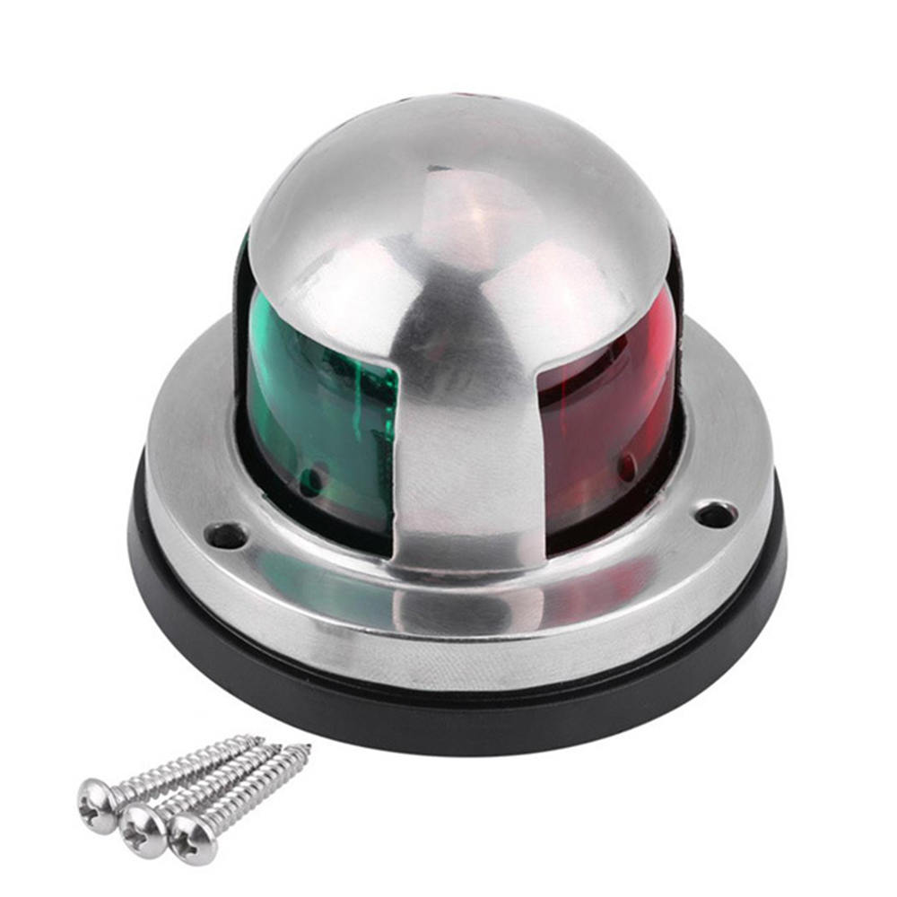 Stainless Steel 12V LED Bow Navigation Light Red Green Sailing Signal Light For Marine Boat Yacht Warning Light