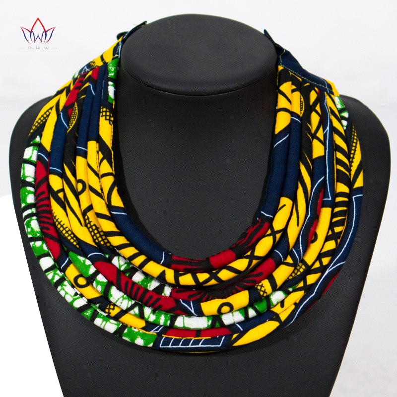 gift,African shop,Handmade necklace,Unique jewelry Statement necklace,Artisan necklaces Jewelry African necklaces Yellow Ankara necklace