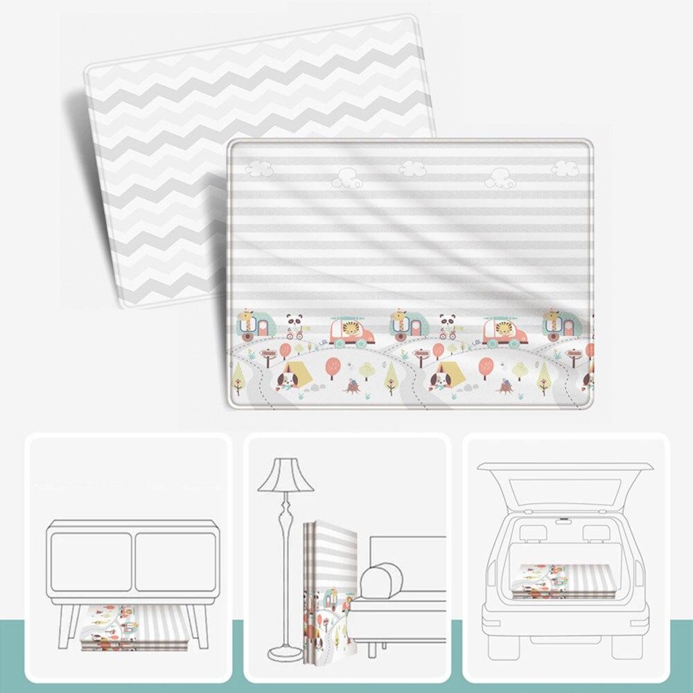 Tapis de jeu infantile XPE Puzzle enfants tapis épaissi Tapete Infantil bébé chambre ramper tapis pliant tapis bébé 200*180*1