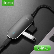 LLANO USB محطة لرسو السفن الكل في واحد USB C إلى HDMI قارئ بطاقة RJ45 PD محول لماك بوك/سامسونج/غالاكسي S9 /S8/+ نوع C USB HUB