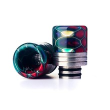 Honeycomb Drip Tip 510 Resin Cigarette Holder Accessories Epoxy Resin Mouthpiece for TFV8 Big Baby/TFV12 with O-ring(China)