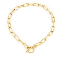 Colar de corrente de cadeado de bloqueio de aço inoxidável de prata cor/ouro para mulher