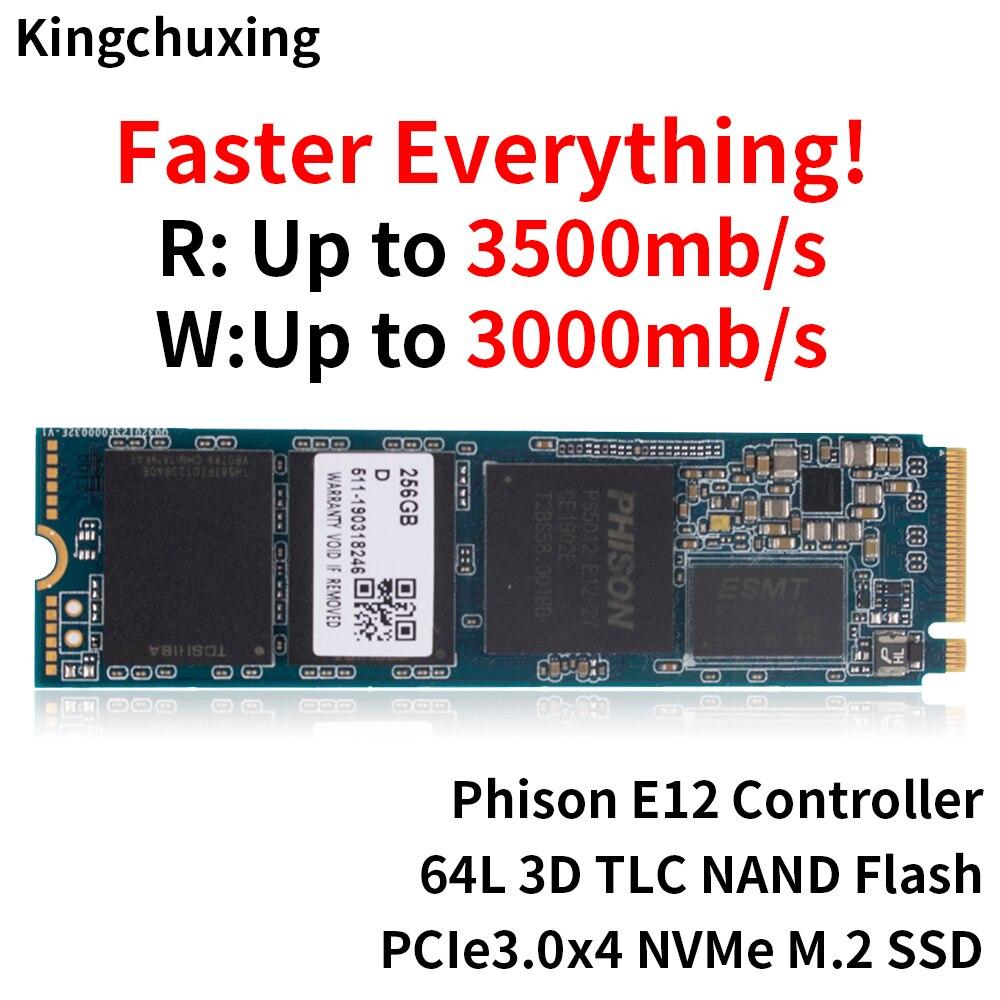 2280 Interno жесткий диск M2 NVMe PCIe m.2 SSD Drive de Estado Sólido de 128GB 256GB 512GB 1TB DISCO RÍGIDO para Computador Portátil por Kingchuxing
