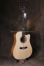 Finlay 41Acoustic Guitar,Solid Spruce Top/Mahogany body,guitars china,cutaway guitar,FX-314C