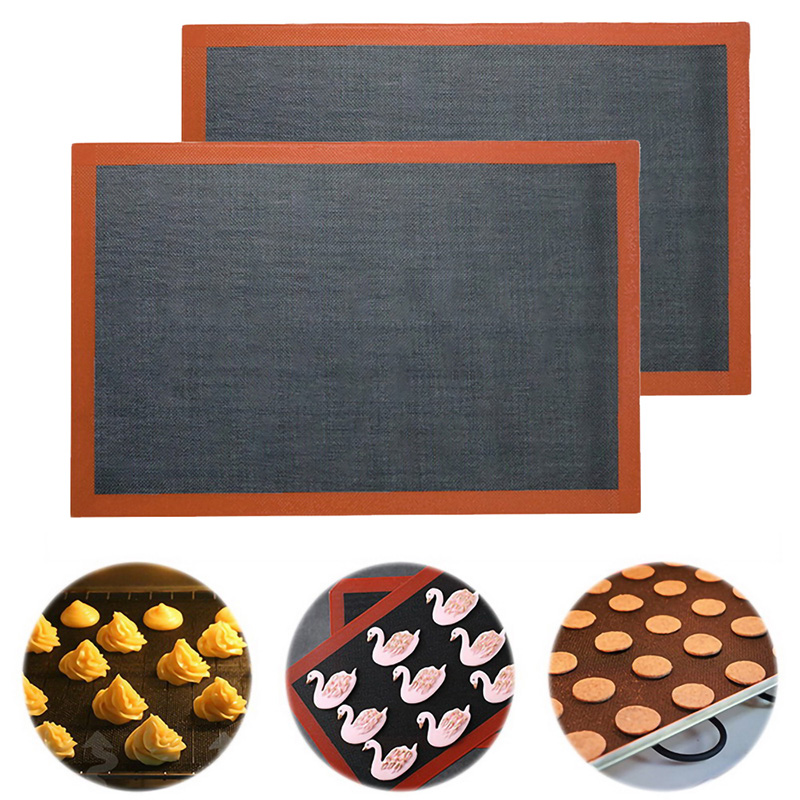 Silicone Mat Pastry Non Stick Puff Perforated Liner Pad Macaron Cookie Bread Mold For Baking Tools Oven Sheet