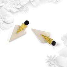 NJ Creative Geometric Triangle Design Charm Drop Earrings For  Women Fashion Dangle Earring Hanging Jewelry
