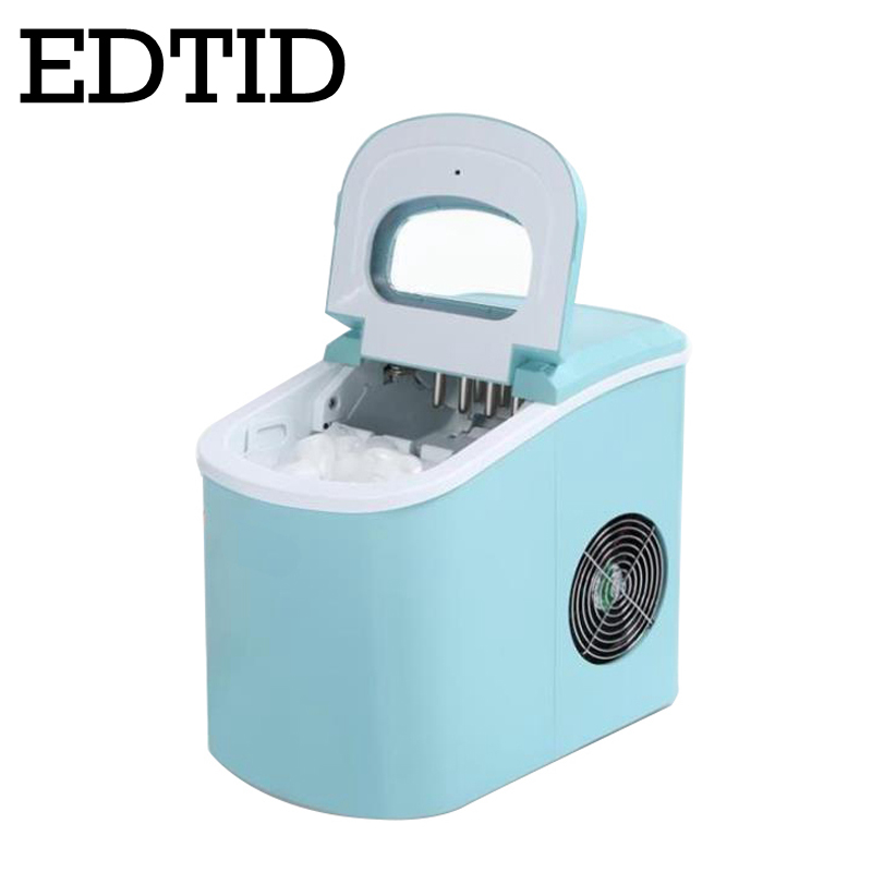 EDTID Portable Automatic Ice Maker, Household Bullet Round Ice Make Machine For Family, Small Bar,coffee Shop 12kgs/24H