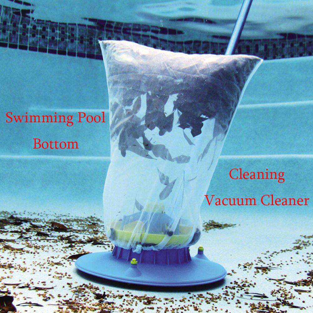 Pool Cleaning Tool Mini Swimming Pool Vacuum Cleaner Floating Objects Cleaning Tools Pool Suction Head Cleaning Net Kit Garden S