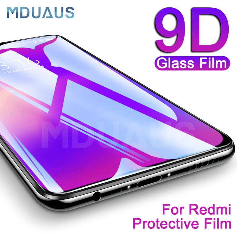 9D Protective Glass On The For Xiaomi Redmi 7 7A 6 Pro 6A S2 K20 Redmi Note 8 7 6 Pro Tempered Screen Protector Glass Film Case