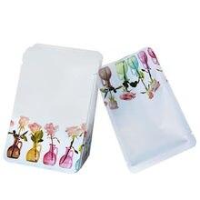100 Pçs/lote Máscara Cosmética Embalagens de Calor Saco de Plástico Selado com Entalhe do Rasgo Malotes para o Chá de Alimentos Doces Embalagem Pequena Amostra