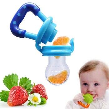 1PCs Fruits Baby Teether Nipple Fruit Food Mordedor Silicona Bebe Silicone Teethers Safety Feeder Bite Food Teether 1