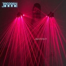 Alta qualidade luvas laser vermelho bares discotecas palco performances adereços fluorescentes festival de música led óculos luminosos luvas